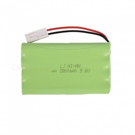 9.6V 2800mAh Li-ion EL-2P Rechargable Ni-MH AA*8 Model H Battery for RC Cars - Green