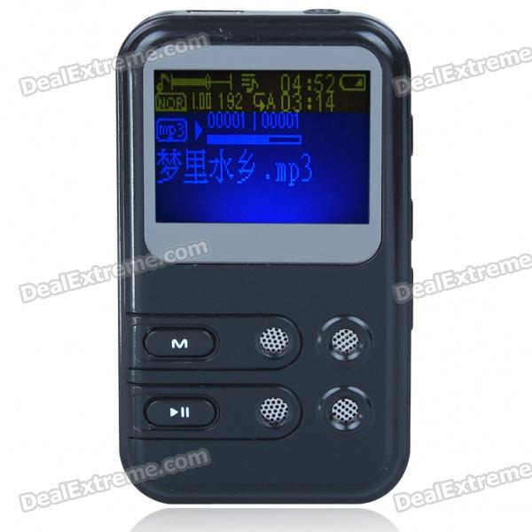 "Designer's USB Rechargeable 1.5"" LCD MP3 Player - Black (2GB)"