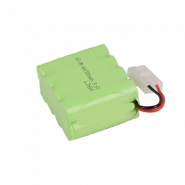 9.6V 1800mAh Li-ion L6.2-2P Rechargable Ni-MH AA*8 Model X Battery for RC Cars - Green