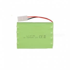 9.6V 1800mAh Li-ion L6.2-2P Rechargable Ni-MH AA*10 Model H Battery for RC Cars - Green