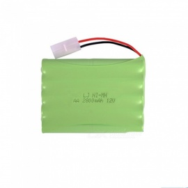9.6V 2800mAh Li-ion L6.2-2P Rechargable Ni-MH AA*10 Model H Battery for RC Cars - Green