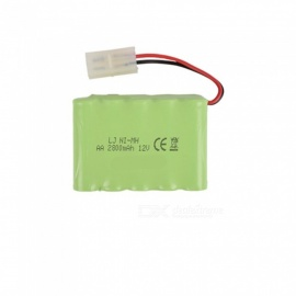9.6V 2800mAh Li-ion L6.2-2P Rechargable Ni-MH AA*10 Model X Battery for RC Cars - Green