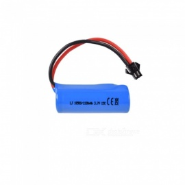 3.7V 1100mAh Li-ion Battery, 2M-2P 18500*1 Rechargable Battery for Remote Control Car Boat Drone - Blue