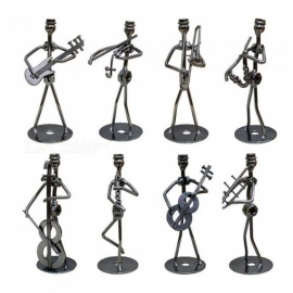 8-Piece Creative Music Band Model Ornaments for Home Decoration, Birthday Gifts