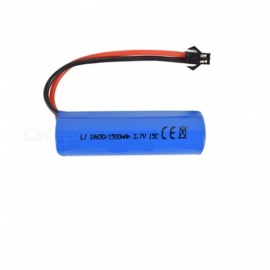 3.7V 1500mAh Li-ion Battery, 2M-2P 18650*1 Rechargable Battery for Remote Control Car Boat Drone - Blue