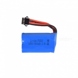 6.4V 800mAh Li-ion Battery, SM-4P 16500*2 Rechargable Battery for Remote Control Car Boat Drone - Blue