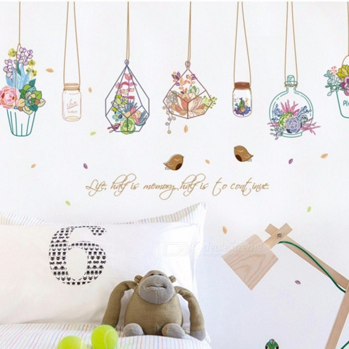 Wall Sticker Baby Nursery Drift Bottle Wall Decal Kids Room Wall Sticker  Removable Wall Decoration Multi