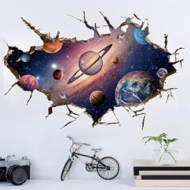 3D DIY Planets Wall Sticker Removable Glow In The Dark Planets Sticker Solar System Wall Decoration Stickers Multi