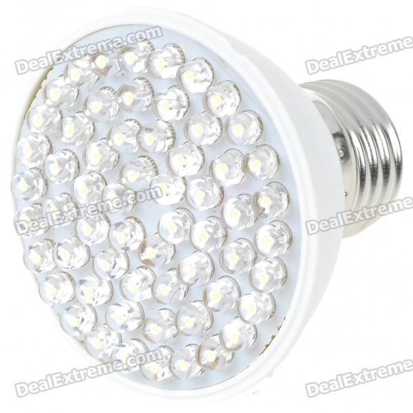 E27 3W 60-LED Energy-Saving White Light Bulb (100~240V) energy saving daylight 80% 15w e26 e27 led bulb white warm light ultra bright