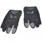 Full Finger Motocycle Racing Gloves - Black + Grey (M Size/Pair)