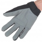 Full Finger Motocycle Racing Gloves - Black + Grey (L Size/Pair)