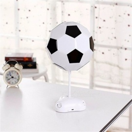 World Cup Football Lamp, 3-LED Handmade Night Light Desk Lamp, Battery Powered Colorful Bedside Lamp, USB LED Table Lamp White/0-5W