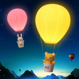 Novelty Dimming Hot Air Balloon Children\'s Lamp With Remote Control, USB Rechargeable Touch Switch LED Night Light Yellow/0-5W