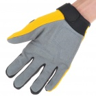 Full Finger Motocycle Racing Gloves - Yellow + Grey (M Size/Pair)
