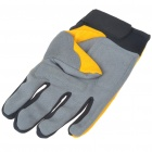 Full Finger Motocycle Racing Gloves - Yellow + Grey (L Size/Pair)