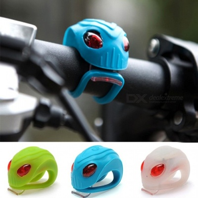 Unique Alien Head Design Silicone Bike Bicycle Cycling Head Front Rear Wheel LED Flash Light Warning Flashing Lights White