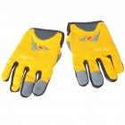 Full Finger Motocycle Racing Gloves - Yellow + Grey (XL Size/Pair)