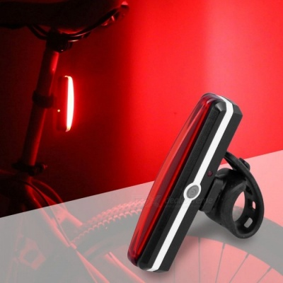 Bicycle Taillight Lamp LED Flashlight Cycling Bike Rechargeable Back Rear Light Safty Warning Waterproof Lights Red