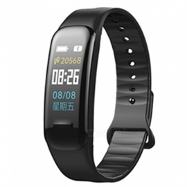 XSUNI Bluetooth Smart Bracelet Blood Pressure Heart Rate Monitor Smart Bracelet IP67 Waterproof Fitness Tracker - Black