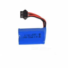 6.4V 320mAh Li-ion Battery, SM-4P 13400*2 Rechargable Battery for Remote Control Car Boat Drone - Blue