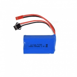 6.4V 500mAh Li-ion Battery, JST+SM-3P 14500*2 Rechargable Battery for Remote Control Car Boat Drone - Blue