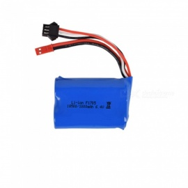 6.4V 1000mAh Li-ion Battery, JST+SM-3P 18500*2 Rechargable Battery for Remote Control Car Boat Drone - Blue