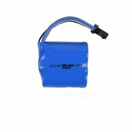 7.4V 600mAh Li-ion Battery, SM-4P 18350*2 Rechargable Battery for Remote Control Car Boat Drone - Blue