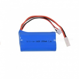 7.4V 1500mAh Li-ion Battery, EL-2P+XH-3P 18650*2 Rechargable Battery for Remote Control Car Boat Drone - Blue