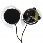 Trendy Hello Kitty Style Ear-Hook Stereo Headset Earphone - Black (3.5mm Jack/120cm-Cable)