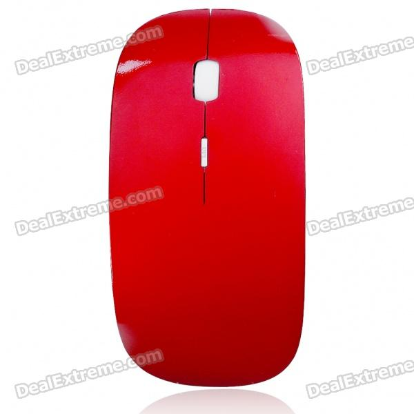 2.4GHz Wireless 1200DPI Optical Mouse with USB Receiver - Red + White (2*AAA)