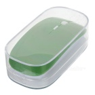 2.4GHz Wireless 1200DPI Optical Mouse with USB Receiver - Green + Silver (2*AAA)