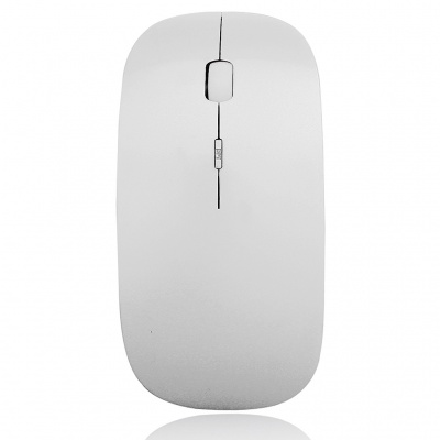 2.4GHz Wireless 1200DPI Optical Mouse with USB Receiver - White + Silver (2*AAA)