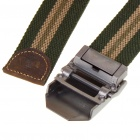 Tactical Durable Canvas Belt with Metal Buckle - Buckle Pattern Assorted (110CM-Length)