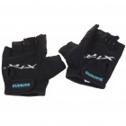 Anti-Slip Half-Finger Gloves - Black (Pair)