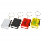 2-LED White Light Hand-Crank Battery-Free Dynamo Flashlight with Keychain - Color Assorted