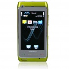 "N8+ 3.0"" Touch Screen Dual SIM Dual Network Standby Quadband GSM TV Cell Phone w/ FM - Green"