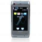 "N8+ 3.0"" Touch Screen Dual SIM Dual Network Standby Quadband GSM TV Cell Phone w/ FM - Silver"