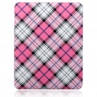 Protective Hard Plastic Plaid Back Case for Apple iPad - Red