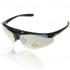 Stylish UV Protection Replaceable Lens Sports Sunglasses Goggle with Resin Carrying Case Set