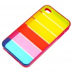 Protective Rainbow Style PC Backside Case with Stylus for Iphone 4 - Pink