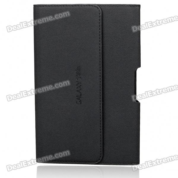 Protective PU Leather Carrying Case for Samsung P1000 - Black