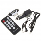"Full Range 0.7"" LCD FM Transmitter with Car Charger/Remote Control for iPod/iPhone 3GS/4"