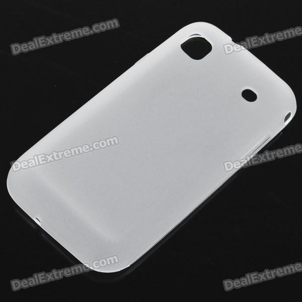 Protective PVC Backside Case for Samsung i9000 Galaxy S - Translucent White protective silicone case for nds lite translucent white