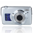 8.1MP CMOS Compact Digital Video Camera w/ 5X Optical Zoom/SD Slot - Silver (2.7