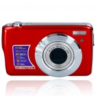 "8.1MP CMOS Compact Digital Video Camera w/ 4X Digital Zoom/SD Slot - Red (2.7"" TFT LCD)"