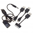 Multi-Function Charging & Data Cable with 3-Adapters (Mini USB + iPhone 3G/3GS + Micro USB)