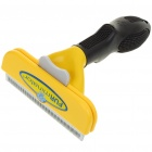 Stainless Steel Large Dog De-Shedding Tool - Yellow+Black