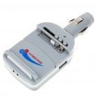Universal Cell Phone Lithium Battery Car Charger with USB Power Port - Grey (DC 12~24V)