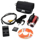 5.0MP CMOS 720P HD Digital Video Camcorder w/ 16X Digital Zoom/USB/AV/SD - Red (3.0&quot; LCD)