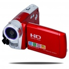 "5.0MP CMOS 720P HD Digital Video Camcorder w/ 16X Digital Zoom/USB/AV/SD - Red (3.0"" LCD)"